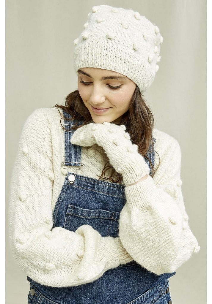 People Tree | Bonnet Bobble - Cream