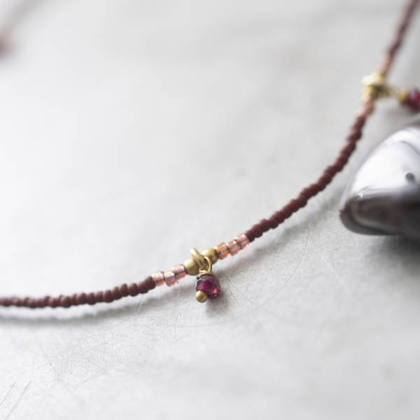 A Beautiful Story | Collier Cocoon - Garnet Gold