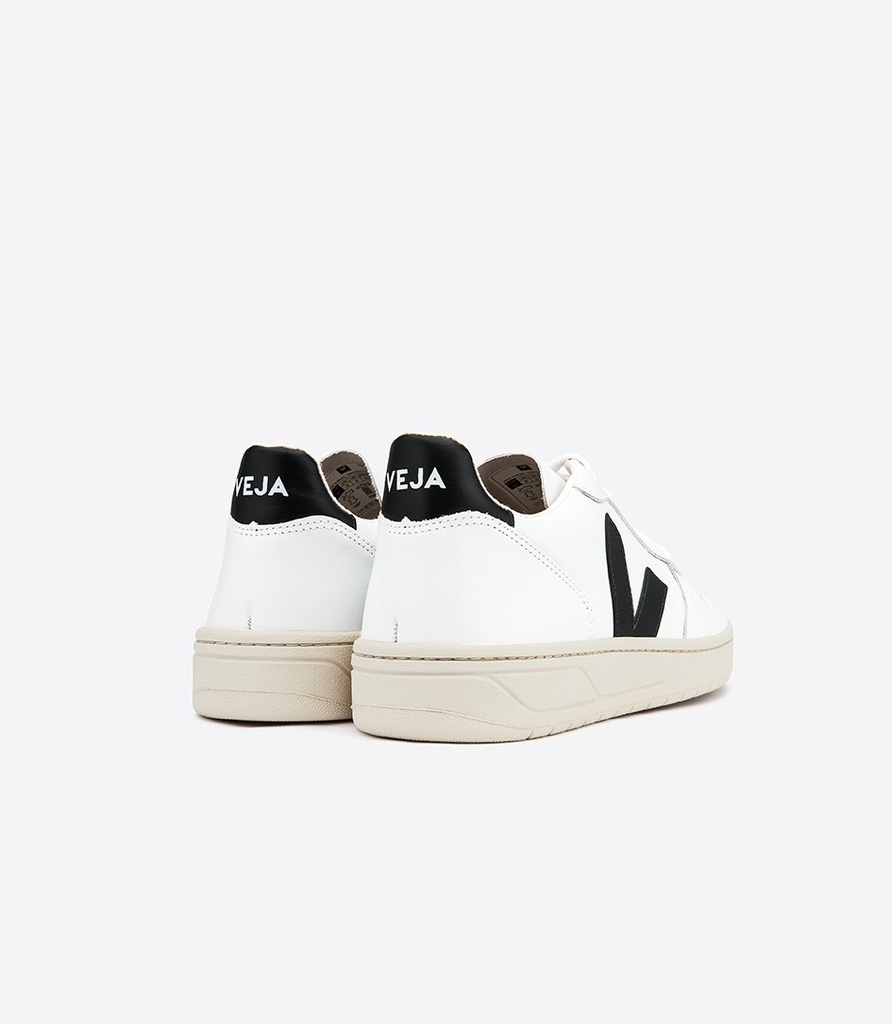 Veja | Basket V-10 Leather Extra-White Black - Unisexe