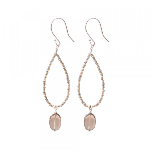 A Beautiful Story | Boucles Magical - Smokey Quartz Silver