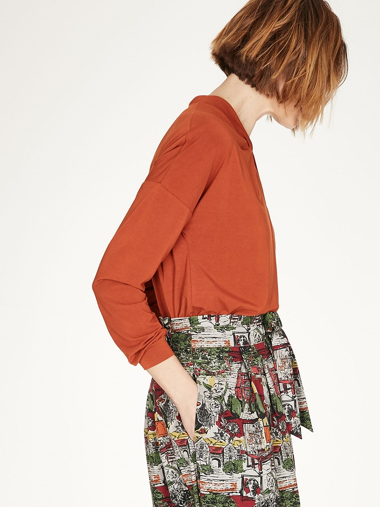 Thought | Blouse Joan - Spiced Orange