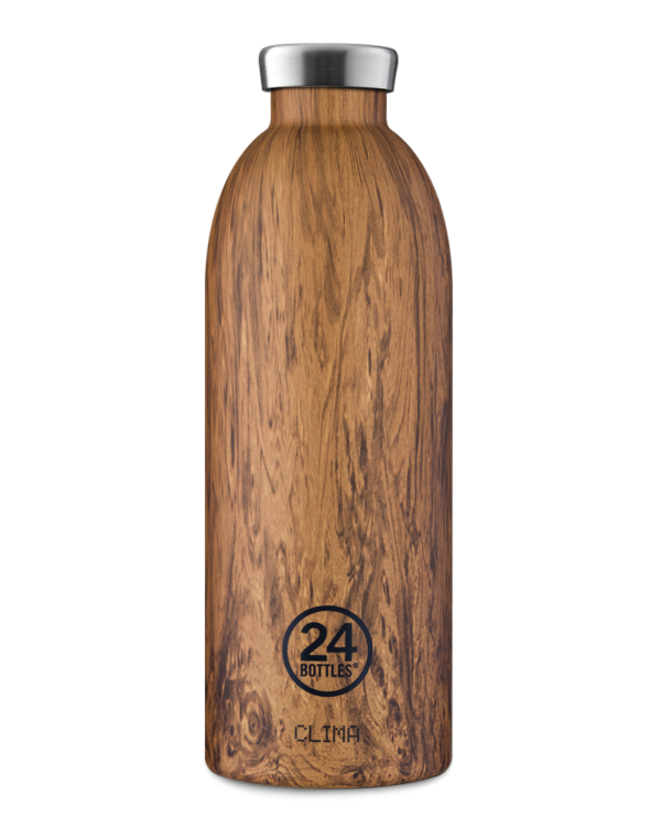 24 Bottles | Thermos Inox Clima Isotherme 850ml - Sequoia Wood