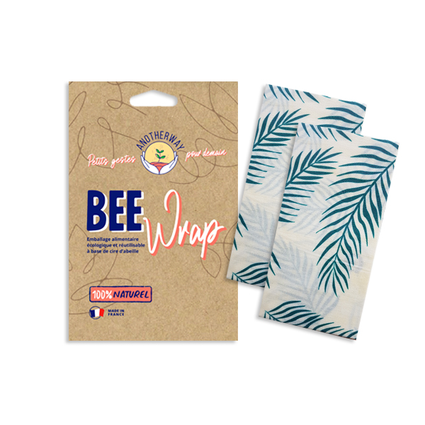 [MBW-BWC009] Another Way | Lot de 2 emballages réutilisables Bee Wrap - Tropical - L