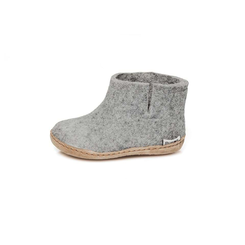 Glerups | Chaussons Botte Laine Bebe - Grey