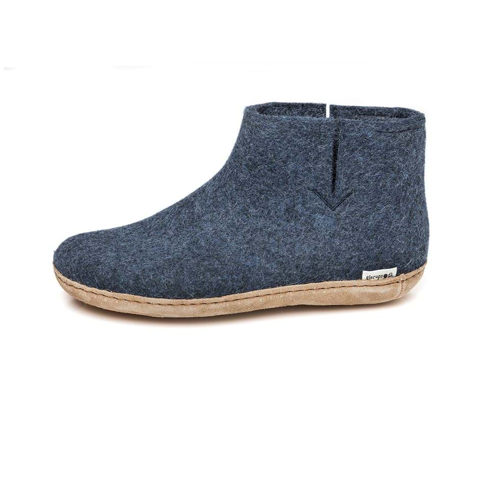 Glerups | Chaussons Botte Laine Adulte  - Denim