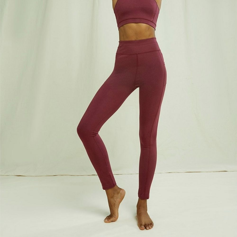 People tree | Legging de Yoga Pocket - Burgundy