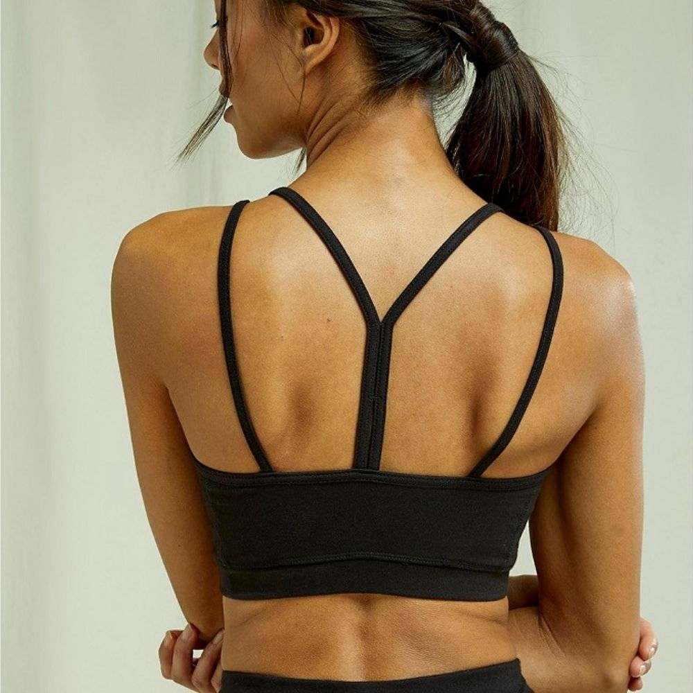 People tree | Crop Top de Yoga Y-back - Black